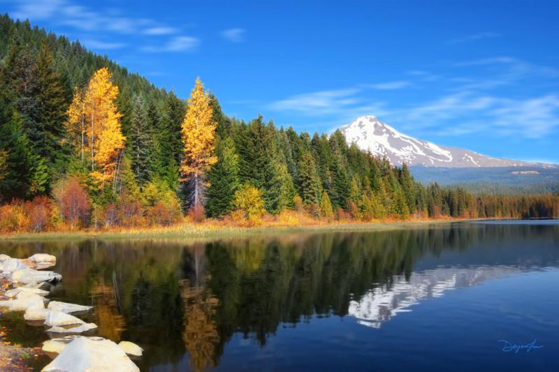 """""""Autumn at Trillium Lake"""""""